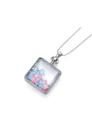Intrigue Halskette Anhänger mit Kristall Steinen