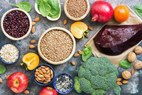 Lebensmittel mit Eisen