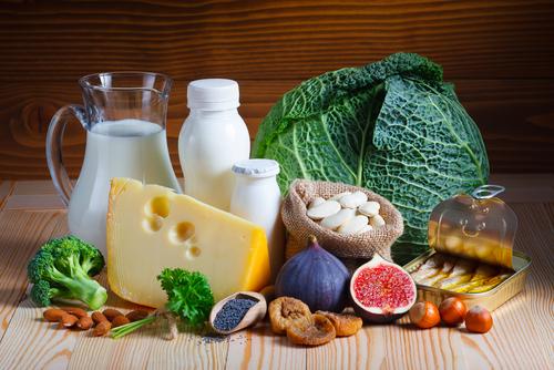 Calcium in Lebensmitteln