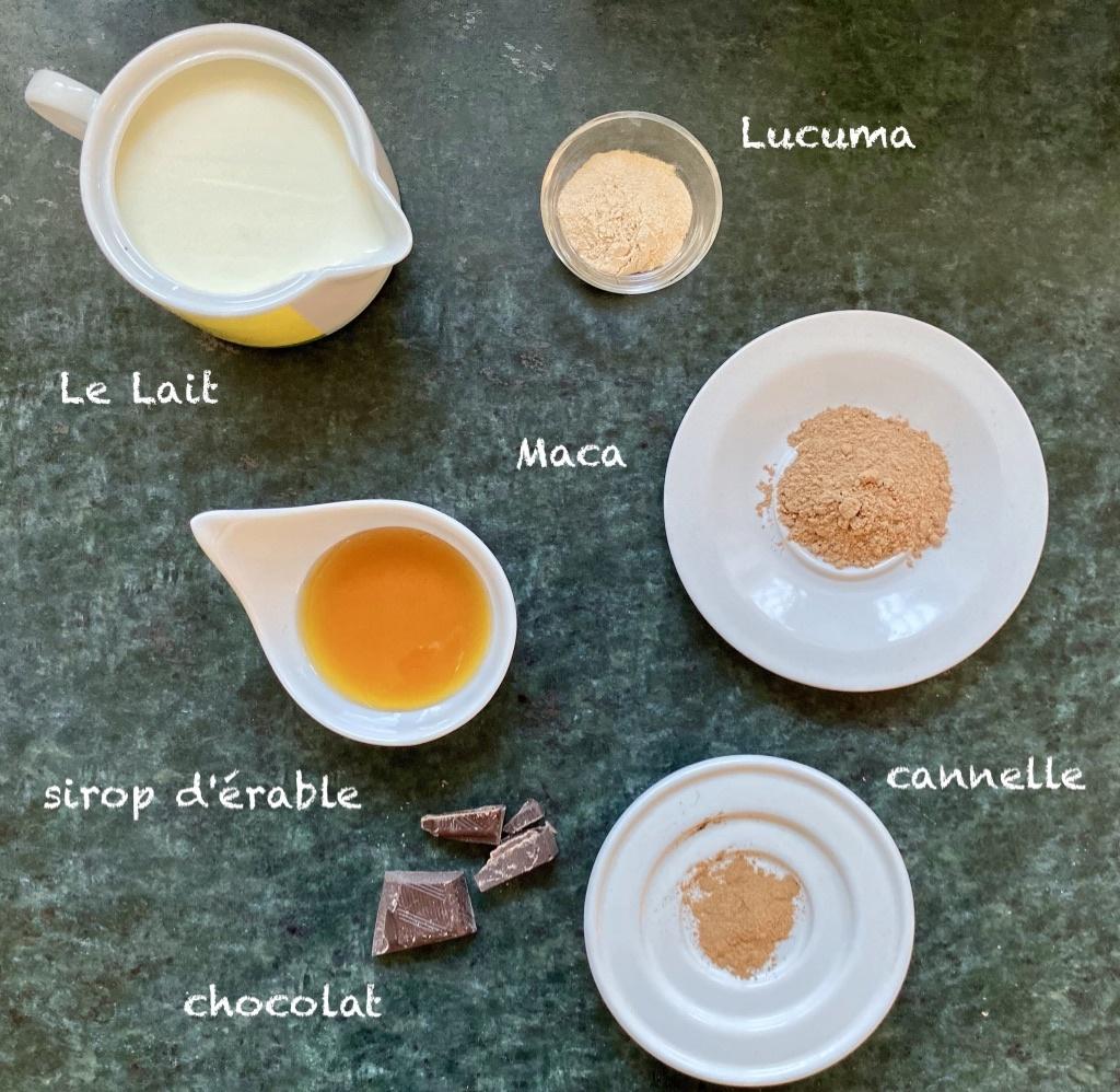 Zutaten Maca Cacao Drink