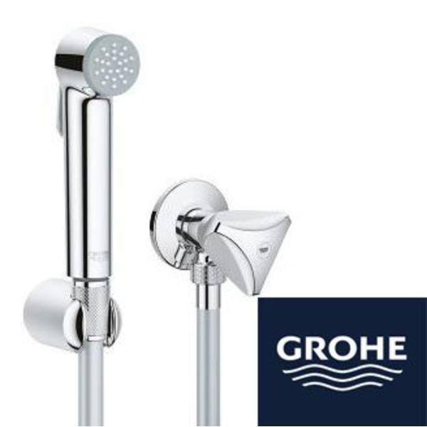 Grohe Grohe WC-Dusche mit Halter Schlauch und Eckventilgarnitur