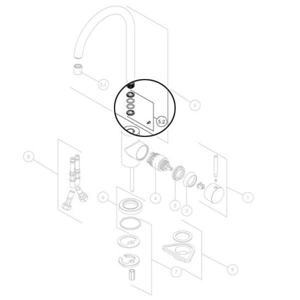 Nobili Nobili Dichtungen stutzen RSA229 / 47 für Küchenarmatur oz