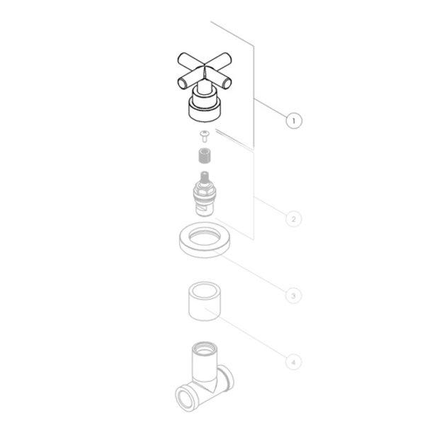 Nobili Nobili-Taste für eingebauten Federhahn SP57008 / 1