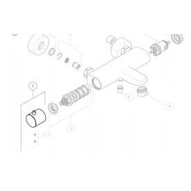 Nobili Nobili knop voor badthermostaatkraan TG85310/1CR en inbouwthermostaat RMA184/178CR