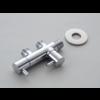 """Winkelventil mit 2 Anschlüssen für WC-Duschanschluss 1/2 """"x 1/2"""" x 1/2 """""""