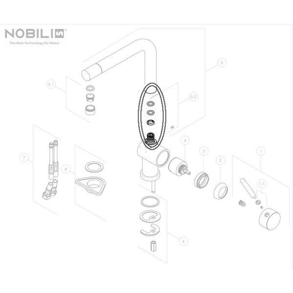 Nobili Nobili afdichtingen uitloop RSA228/84 onder andere voor keukenkraan oz en Doeco MK120C