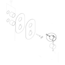 Nobili Nobili knop voor inbouwthermostaat WE00101/TCR