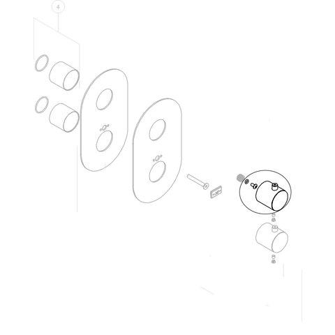Nobili knop voor inbouwthermostaat WE00101/TCR