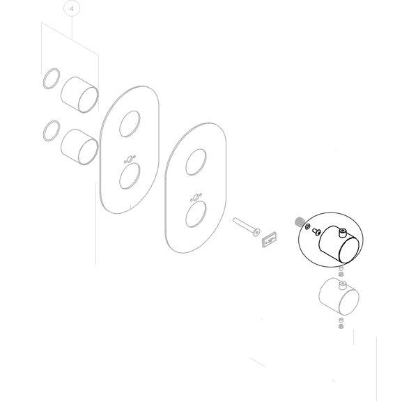 Nobili Draaiknop voor omstel inbouwthermostaat WE00101/TCR