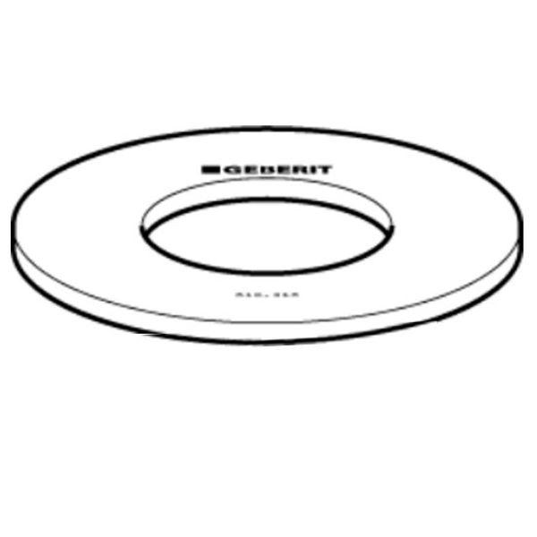 Geberit Geberit bodemventiel rubber 63mm UP100, 300, 320