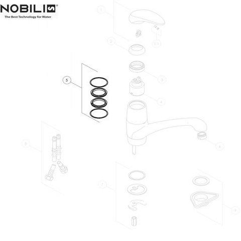 Nobili palladio ring set by Pininfarina