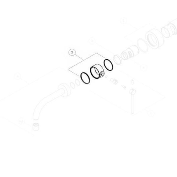Nobili Nobili ring set for lever PL00198