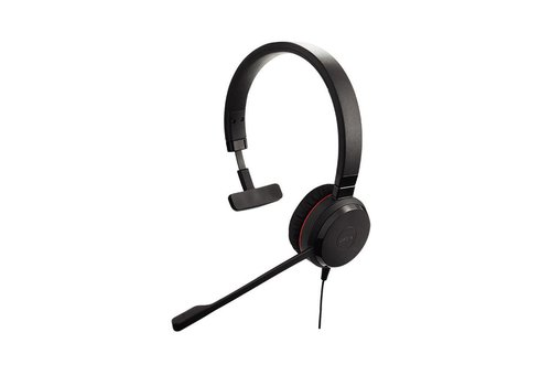 Jabra Evolve 30 II MS Mono voor PC (SfB) & Mobiel (3,5 mm Jack)