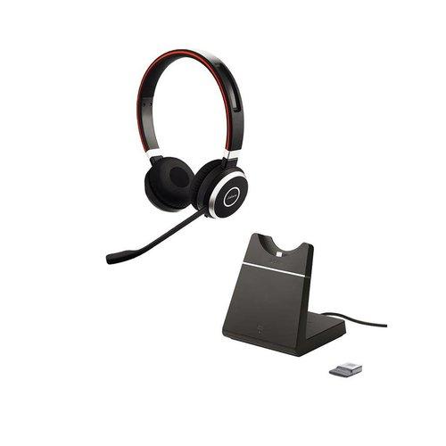 Jabra Evolve 65 UC Stereo inc. charging stand