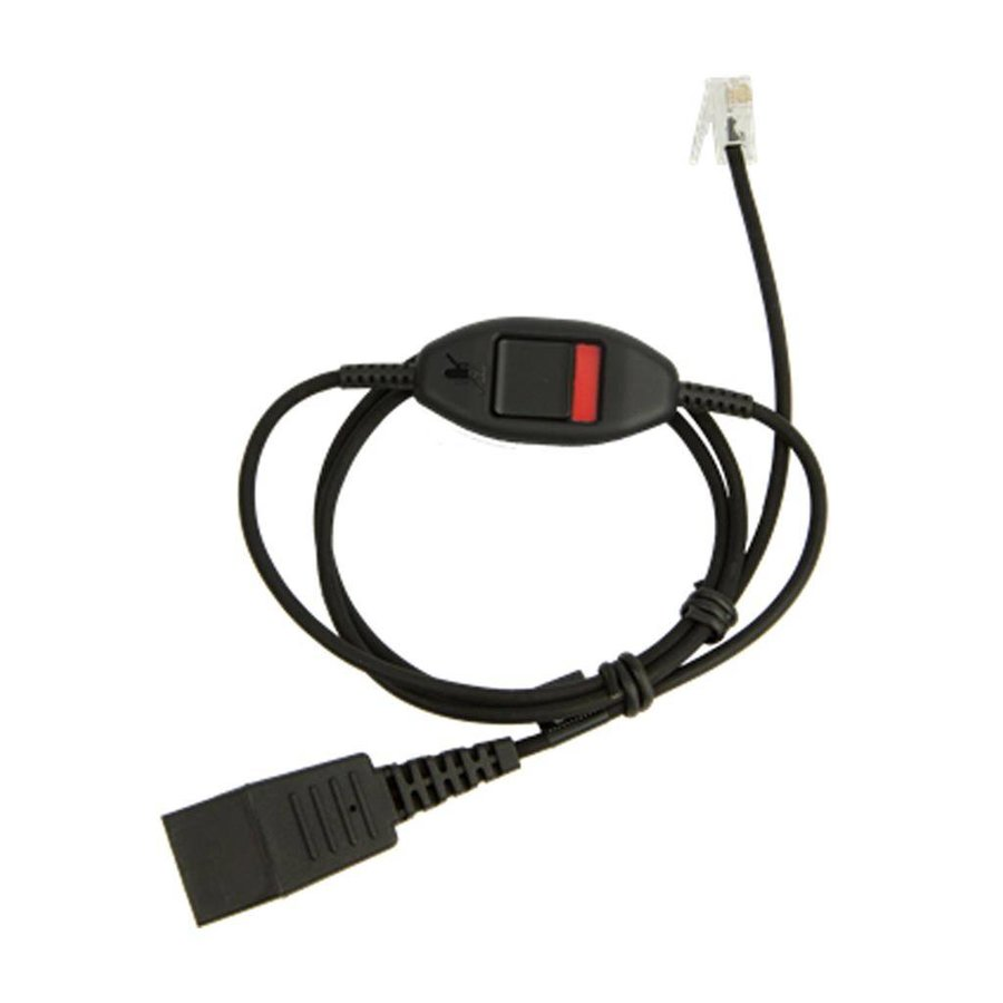 QD cord with Mute for Jabra LINK 850 Supervisor