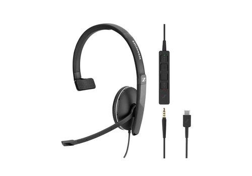 Sennheiser SC135 Mono Headset met USB-C en 3,5mm jack