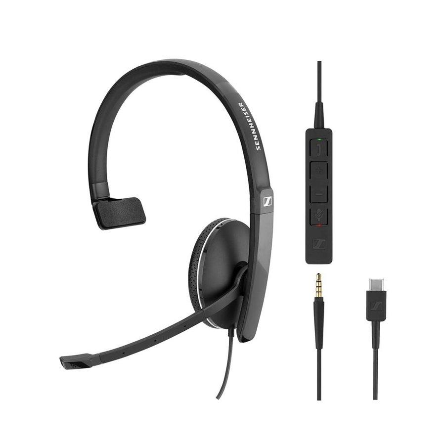 SC135 Mono Headset met USB-C en 3,5mm jack