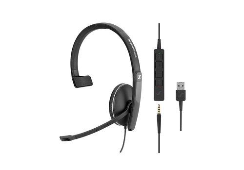 EPOS | Sennheiser SC135 Mono Headset met USB en 3,5mm jack