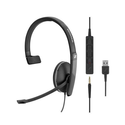 Sennheiser SC135 Mono Headset met USB en 3,5mm jack