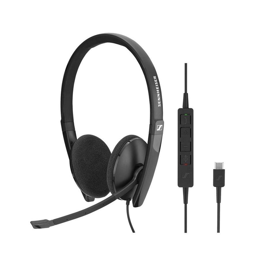 SC160 Duo Headset met USB-C