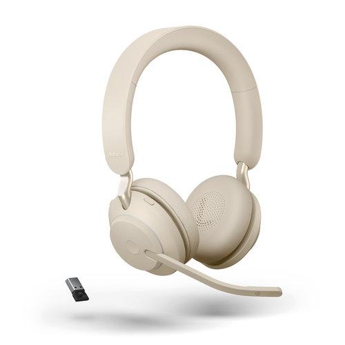 Jabra Evolve2 65 MS Stereo USB-A (BEIGE) Microsoft Teams & Sfb