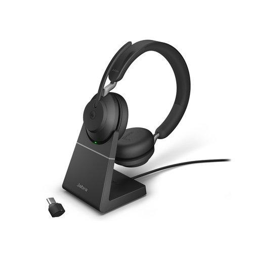 Jabra Evolve2 65 MS Stereo USB-C STAND (BLACK) Microsoft Teams & SfB