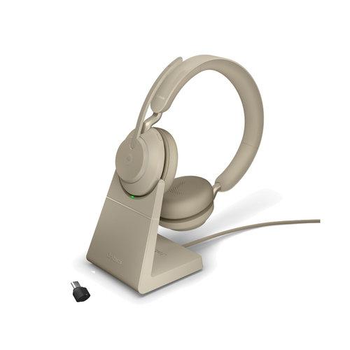 Jabra Evolve2 65 MS Stereo USB-C STAND (BEIGE) Microsoft Teams & SfB