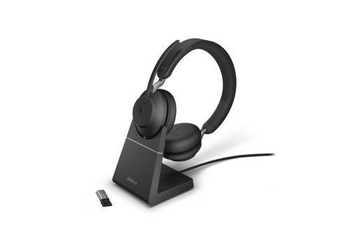 Jabra Evolve2 65 MS Stereo USB-A STAND (BLACK) Microsoft Teams & Sfb