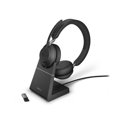 Jabra Evolve2 65 MS Stereo USB-A STAND (BLACK) Microsoft Teams & Sfb