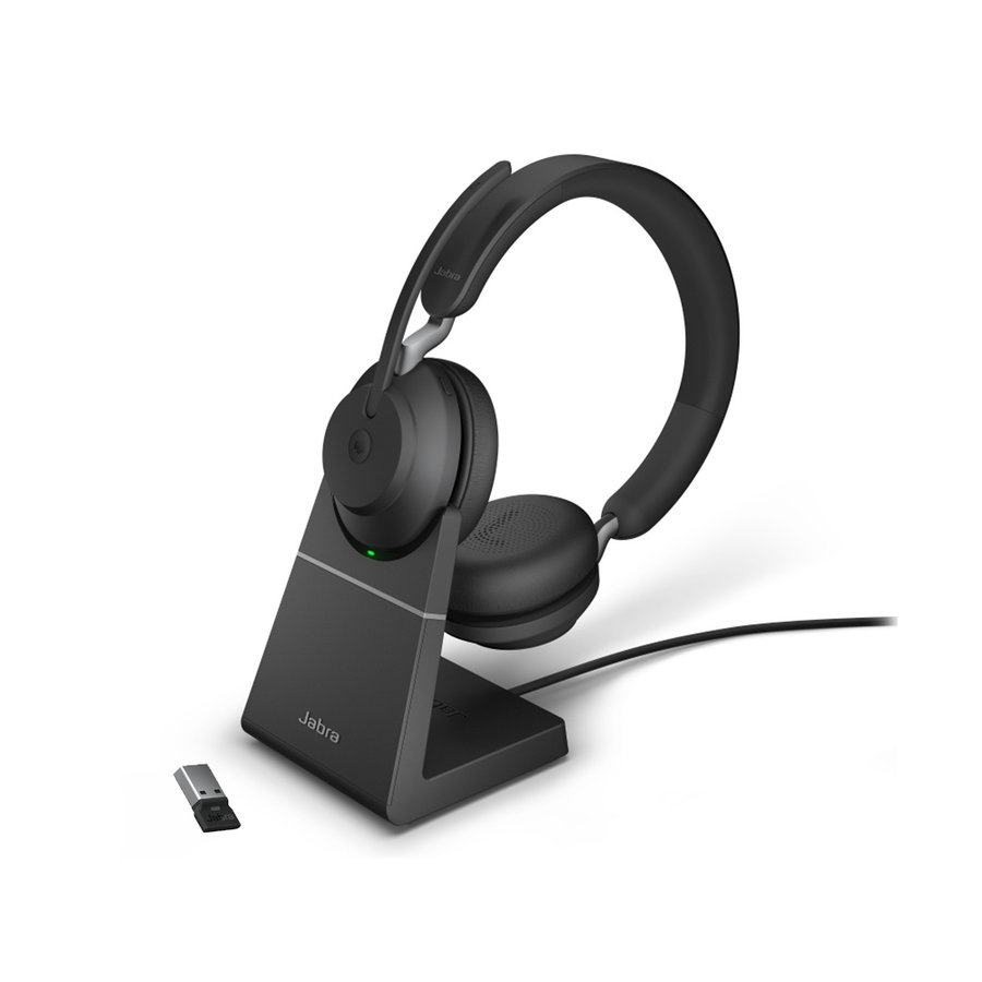 Evolve2 65 MS Stereo USB-A STAND (BLACK) Microsoft Teams & Sfb