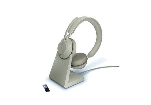 Jabra Evolve2 65 MS Stereo USB-A STAND (BEIGE) Microsoft Teams & Sfb