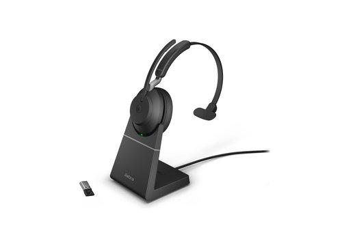 Jabra Evolve2 65 USB-A UC MONO STAND (BLACK)