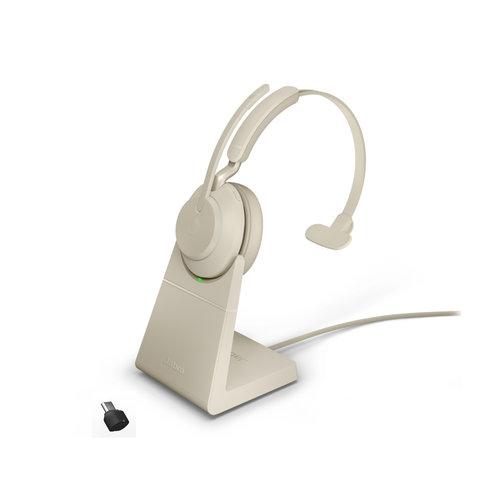 Jabra Evolve2 65 USB-C MS MONO STAND (BEIGE)