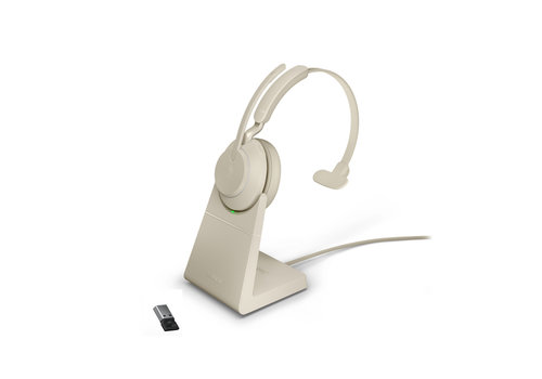 Jabra Evolve2 65 USB-A UC MONO STAND (BEIGE)