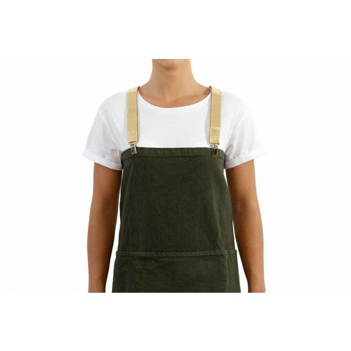 UASHMAMA® Apron Dark green