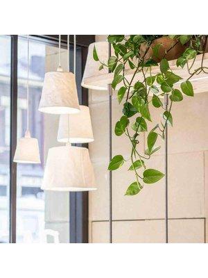 UASHMAMA® Lampe à suspension Paniere Blanc