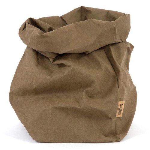 UASHMAMA® Paper Bag Olijf