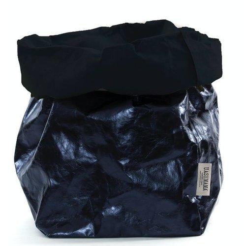 UASHMAMA® Paper Bag Dark Blue & Petrolio