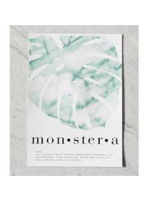 Crisp Sheets Poster Monstera