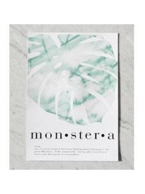 Crisp Sheets Poster Monstera
