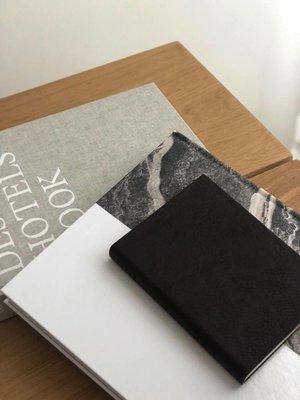 UASHMAMA® Lederen Notitieboek Zwart