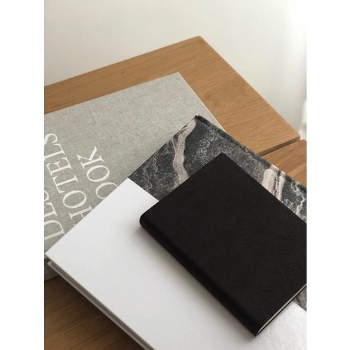 UASHMAMA® Leather Notebook Black