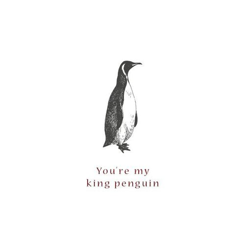 Moes & Griet You're my king penguin - A5