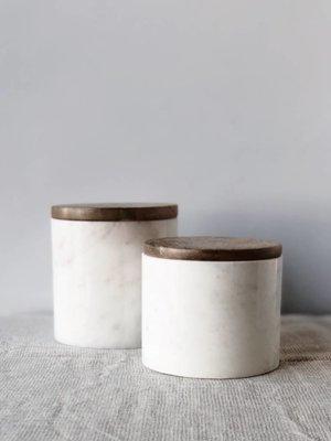 Pot de rangement en marbre petit | 9 x Ø 10 cm