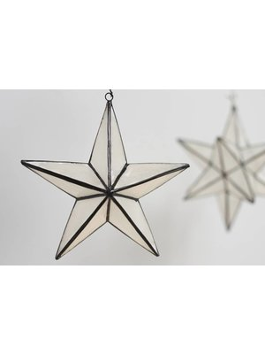 Kinta Decoratie hanger Bright Zwart | 11 x 11 cm