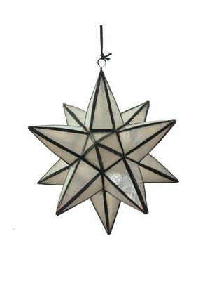 Kinta Decoratie ster Bright Zwart | 15 x 15 cm