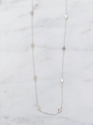 Ketting Stars | Zilver