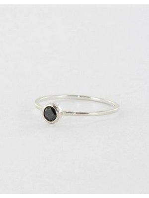 Ring dot Zwart & Zilver