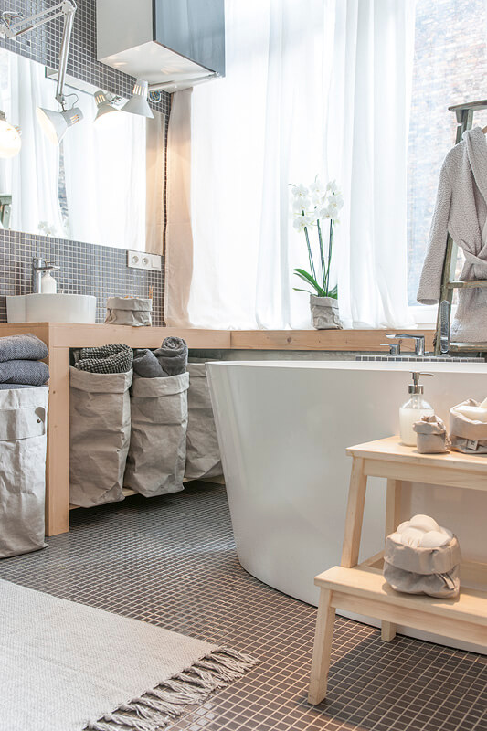 hippe opbergmand badkamer