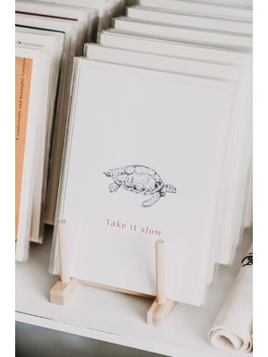 Moes & Griet Greeting card A5 | Take It Slow